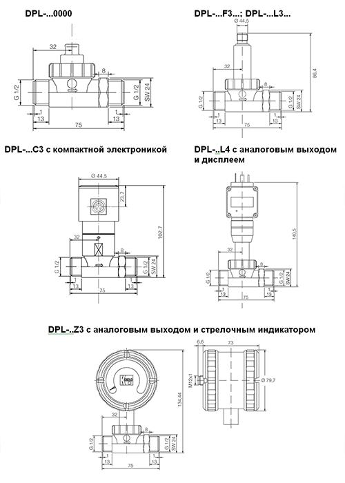 Габаритные размеры DPL