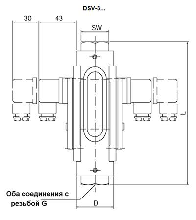 Габаритные размеры DSV-3