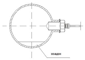 Рекомендуемое положение уставновки KAL-E с осадком в трубе