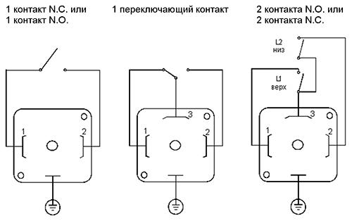 Электрические присоединения трехполюсный разъем