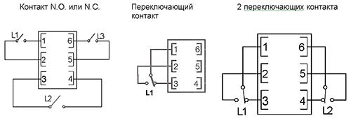 Электрические присоединения шестиполюсный разъем
