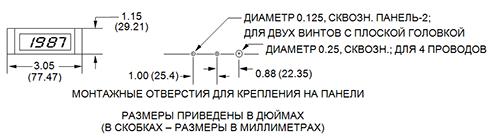 MAS - монтажные отверстия для крепления на панели