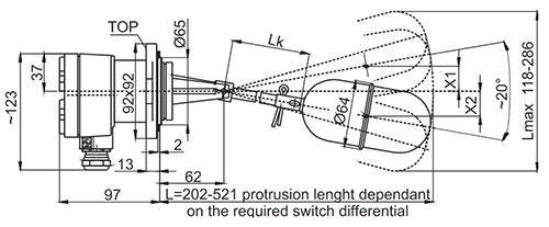 NGS Фиксированный переключательный гистерезис, установка сбоку