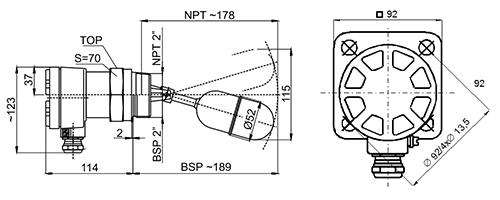 Рабочие подключения: BSP или NPT
