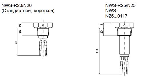 Габариты NWS-R20,N20