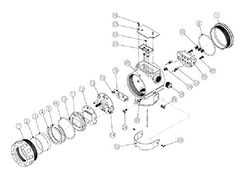 Датчик давления PAD экспонированный вид (корпус)