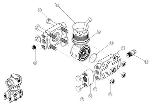 Модель PAD, экспонированный вид (сенсорный модуль – D, G,)