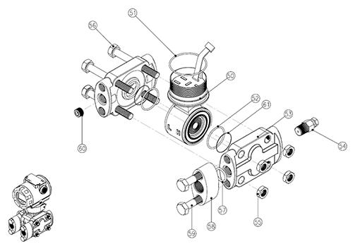Модель PAD, экспонированный вид (Сенсорный модуль – H)