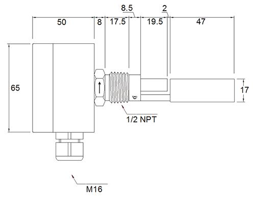 Габаритные размеры RFS-1201 N4, RFS-12Ex N4