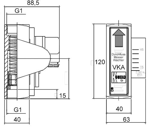 Габаритные размеры VKA